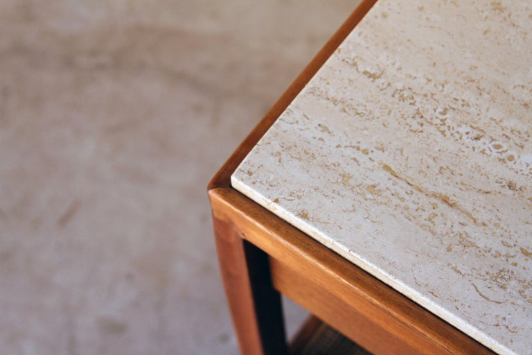 20th Century Gregori Marble-Top Side Table For Sale
