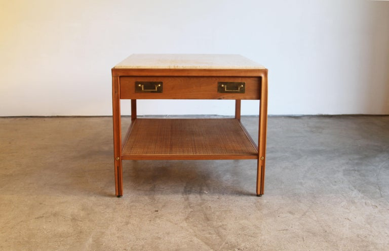 Gregori Marble-Top Side Table For Sale 1