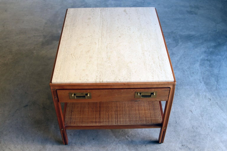 Gregori Marble-Top Side Table For Sale 4