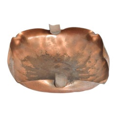 Gregorian Hammered Copper Ashtray Mid-Century Modern