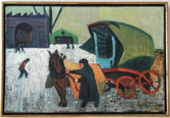 """Man with Cart"" American Scene Modern Modernism WPA Depression Era Regionalism"