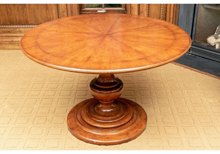 A very fine dining or gaming table by Gregorius Pineo for Holly Hunt, with bold baluster from standard resting on a 29