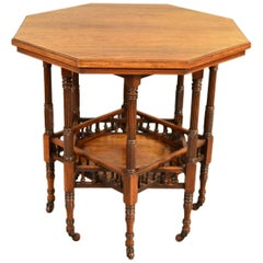 Gregory & Co Aesthetic Movement Eight Leg Octagonal Library Centre or Side Table