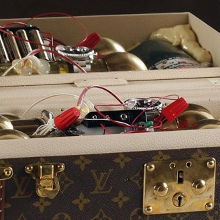 Louis Vuitton, Mock Vanity Case Bomb - Contemporary Sculpture by Gregory Green