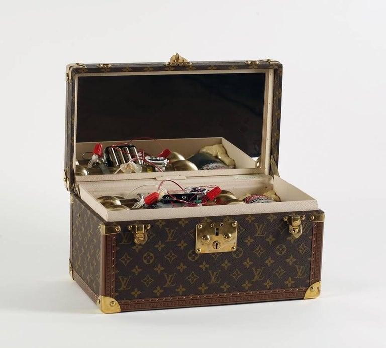 Gregory Green Still-Life Sculpture - Louis Vuitton, Mock Vanity Case Bomb
