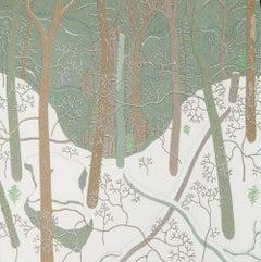 Snow Fall Jan Wyatt Mt, Winter Landscape of Snowy Woods, Forest in White Snow