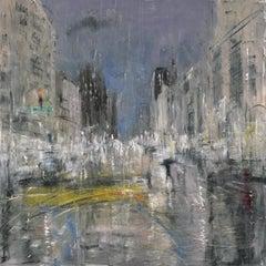 "Gregory Prestegord, ""Crosswalk"" cityscape, Manhattan"