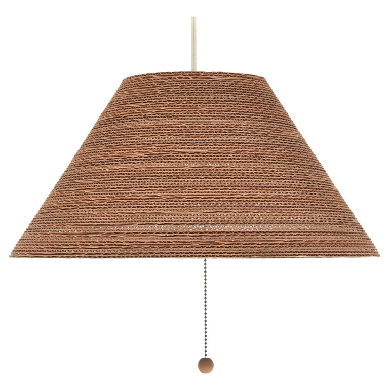 Gregory Van Pelt Corragated Cardboard Hanging Light For