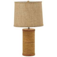Gregory Van Pelt Cylindrical Corrugated Cardboard Lamp
