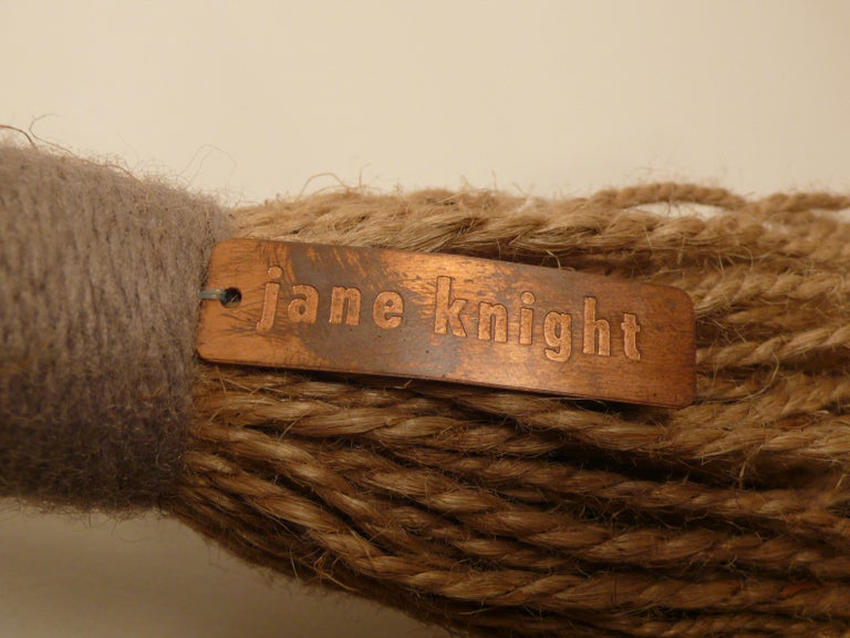 'Greige' by Fiber Artist Jane Knight In Excellent Condition For Sale In Dallas, TX