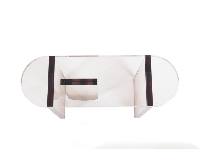 Modern Grenada Console Table in Fumé Plexiglass by Roberto Cavalli For Sale