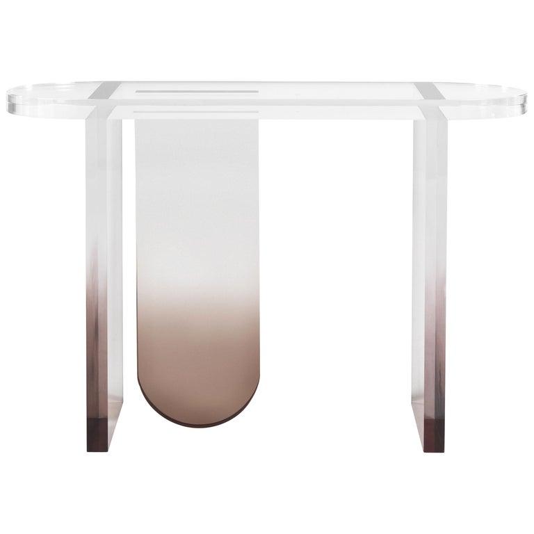 Grenada Console Table in Fumé Plexiglass by Roberto Cavalli For Sale