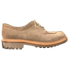 GRENSON Size 8 Sand Suede Split Toe Lace Up Shoes