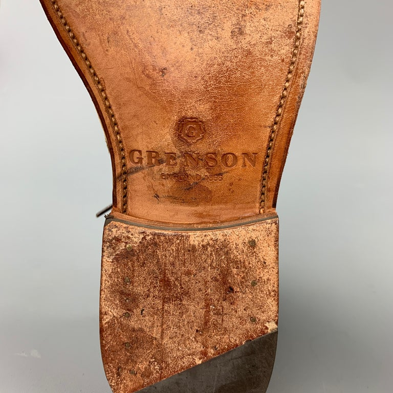 GRENSON Size 9 Tan Suede Lace Up Dress Shoes For Sale 3