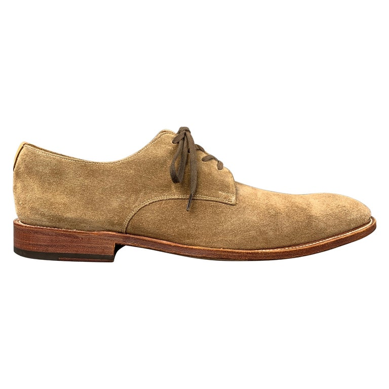 GRENSON Size 9 Tan Suede Lace Up Dress Shoes For Sale