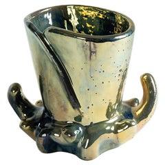 Grès de Rambervillers, Art Nouveau Glazed Ceramic Vase, France, circa 1905