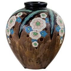 Gres Keramis Flower Vase, Belgium, circa 1920