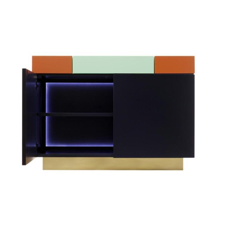 Modern Greta credenza  Sophisticated Lacquered Furniture  Handmade Details   120 For Sale