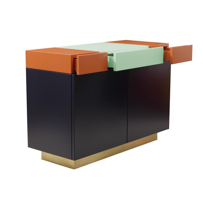 Brazilian Greta credenza  Sophisticated Lacquered Furniture  Handmade Details   120 For Sale