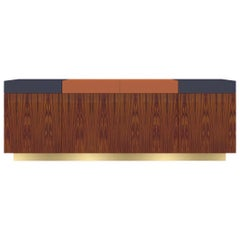 Greta Credenza Natural Woodwork Fine Lacquered Handmade Details