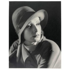 Greta Garbo, Portrait with Hat