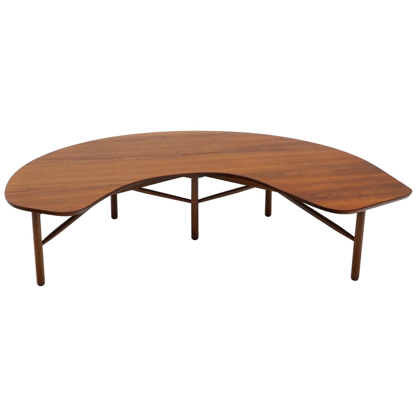Greta Grossman Boomerang Coffee Table, Walnut, 1950s, Rare, Excellent Condition