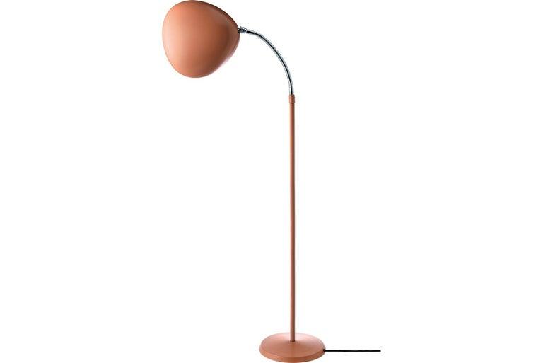 Scandinavian Modern Greta Grossman Cobra Floor Lamp, Vintage Red For Sale