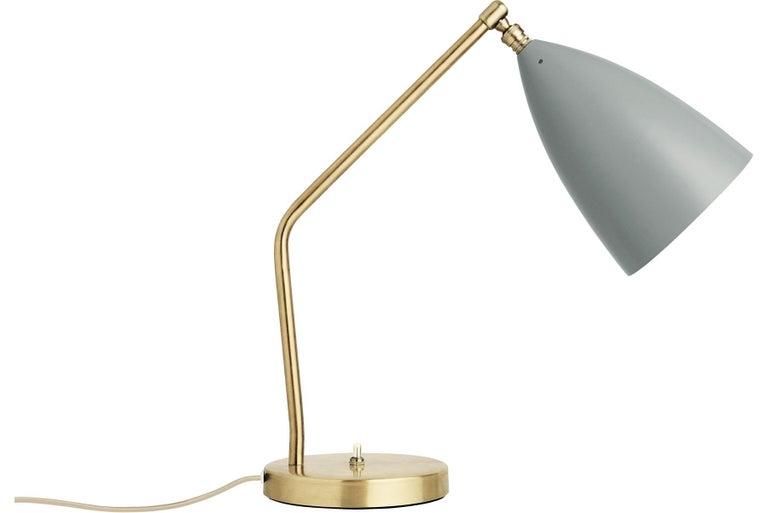 Scandinavian Modern Greta Grossman Grasshopper Table Lamp, Blue Grey For Sale