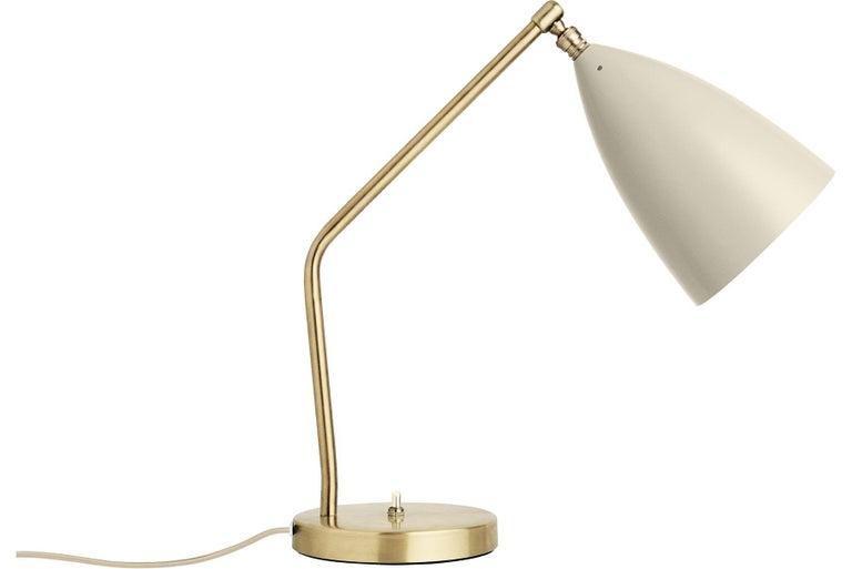 Scandinavian Modern Greta Grossman Grasshopper Table Lamp, Oyster White For Sale