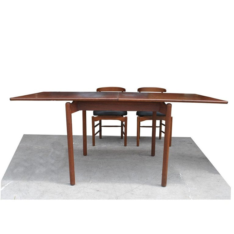 Mid-Century Modern Greta Grossman Midcentury Teak Expandable Dining Table and Chairs For Sale