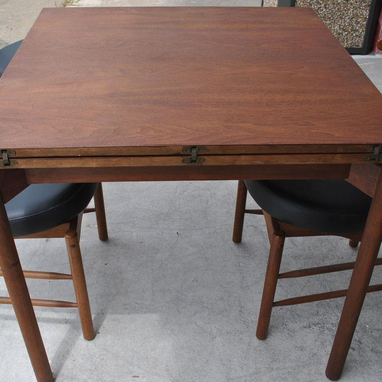 Greta Grossman Midcentury Teak Expandable Dining Table and Chairs For Sale 1