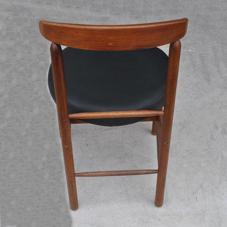 Greta Grossman Midcentury Teak Expandable Dining Table and Chairs For Sale 2