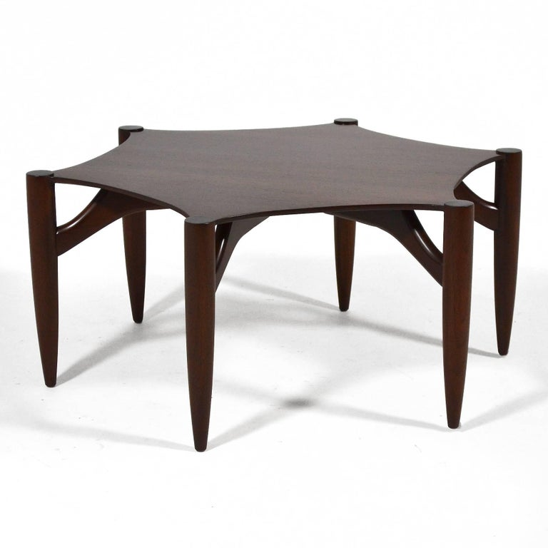 American Greta Grossman Rosewood Coffee Table For Sale