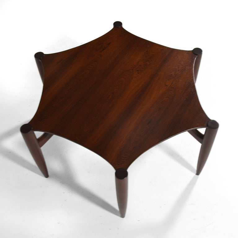 Mid-20th Century Greta Grossman Rosewood Coffee Table For Sale