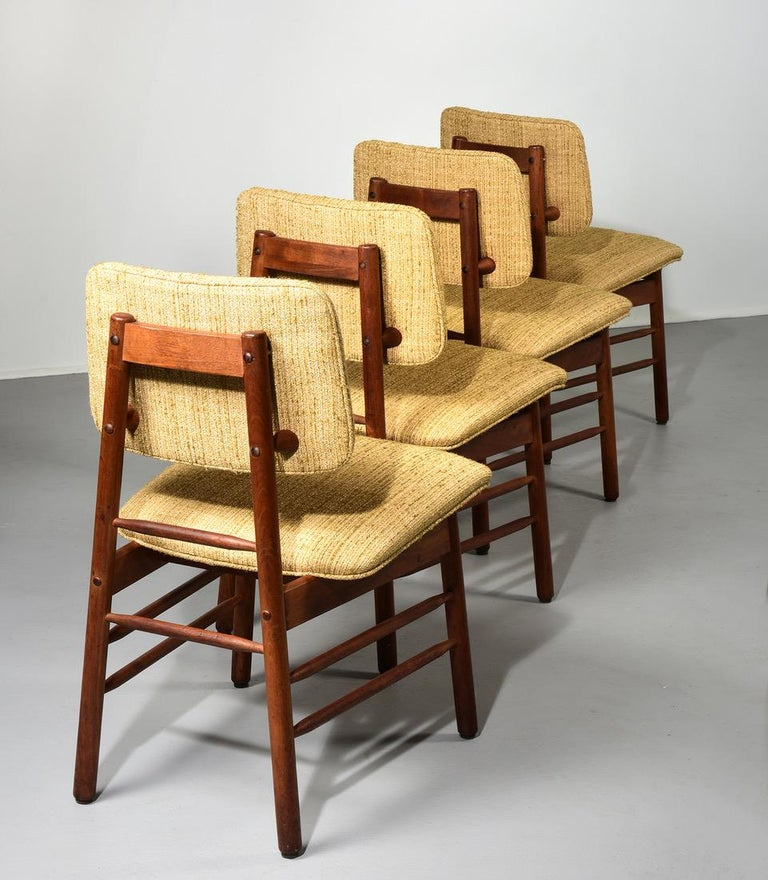 Mid-Century Modern Greta Grossman Set of Four Chairs, Model 6260, circa 1952 For Sale