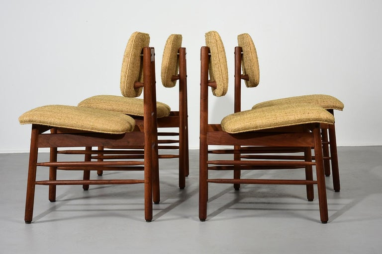 American Greta Grossman Set of Four Chairs, Model 6260, circa 1952 For Sale