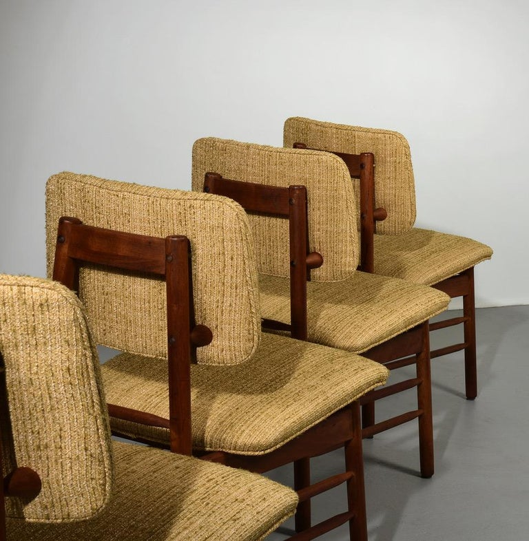 Greta Grossman Set of Four Chairs, Model 6260, circa 1952 In Good Condition For Sale In Houston, TX