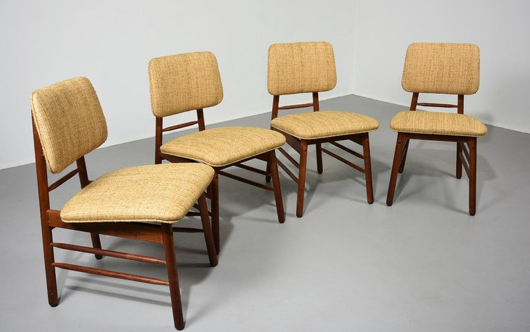 Mid-20th Century Greta Grossman Set of Four Chairs, Model 6260, circa 1952 For Sale
