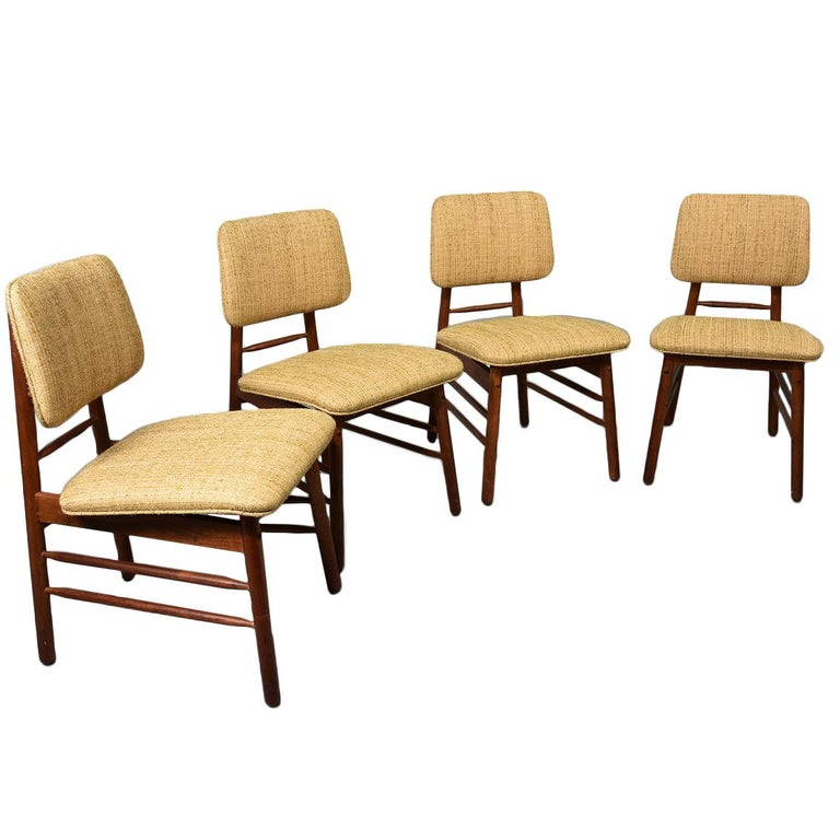 Greta Grossman Set of Four Chairs, Model 6260, circa 1952 For Sale