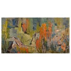 Greta Liljeblad-Lysén, Sweden, Oil on Canvas, Abstract Composition