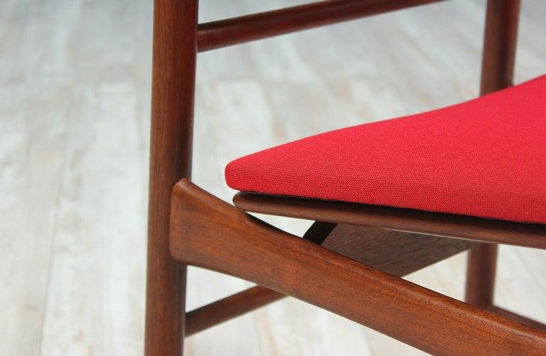 Fabric Greta M. Grossman Dining Chairs for Glenn of California For Sale
