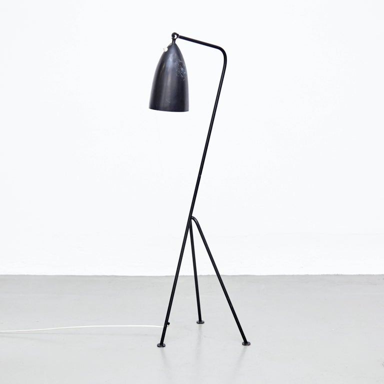 Floor lamp designed by Greta Magnusson Grossman in Sweden, circa 1947.