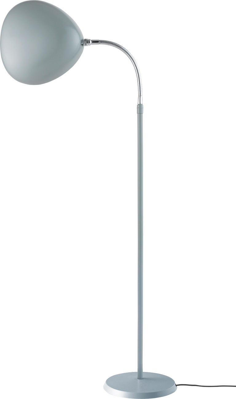 Contemporary Greta Magnusson Grossman 'Cobra' Floor Lamp in Dark Gray For Sale