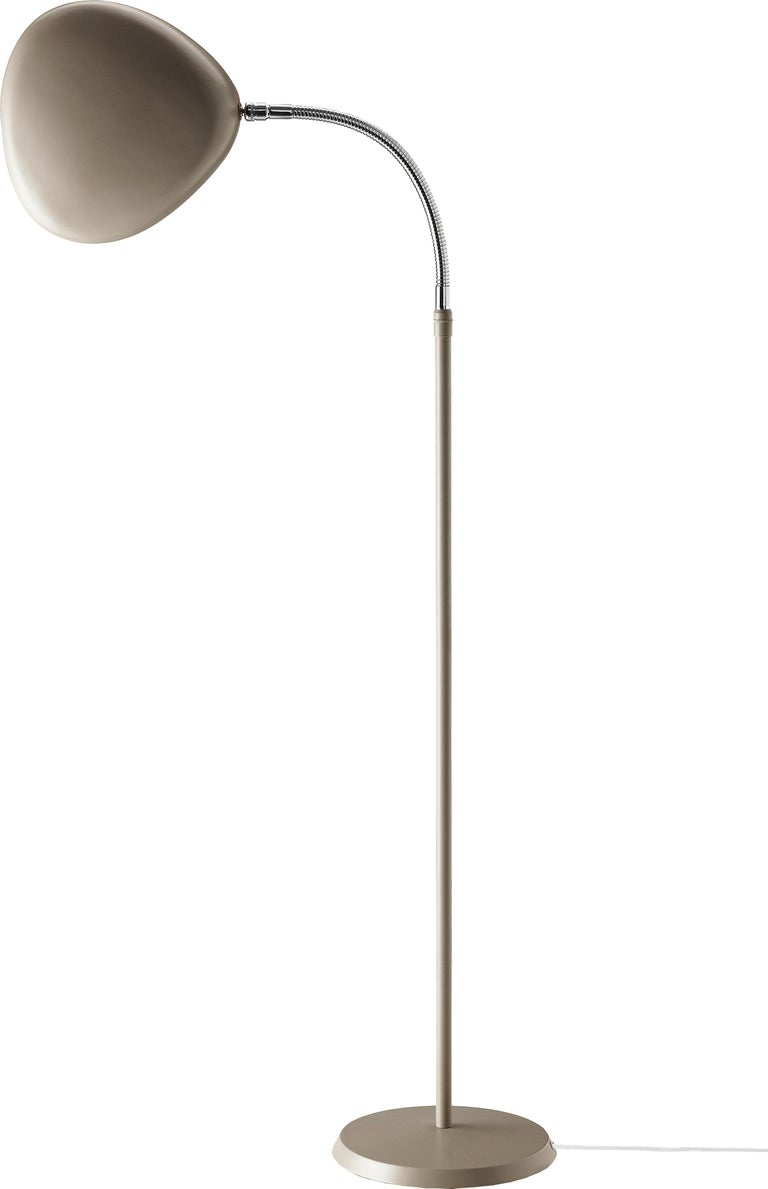 Greta Magnusson Grossman 'Cobra' Floor Lamp in Red For Sale 1