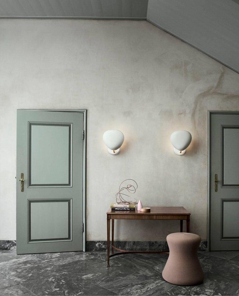 Scandinavian Modern Greta Magnusson Grossman 'Cobra' Wall Lamp in White For Sale