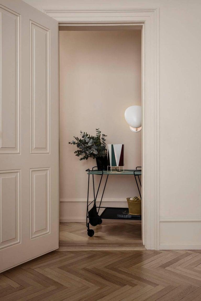 Danish Greta Magnusson Grossman 'Cobra' Wall Lamp in White For Sale