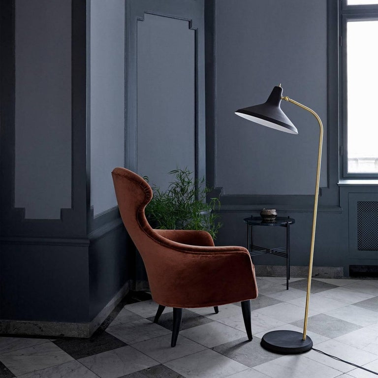 Danish Greta Magnusson Grossman 'G-10' Floor Lamp For Sale