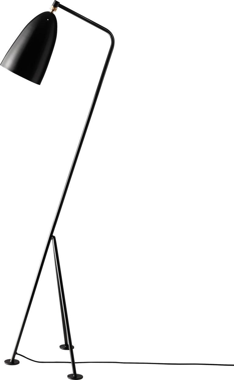 Danish Greta Magnusson Grossman 'Grasshopper' Floor Lamp in Oyster White For Sale