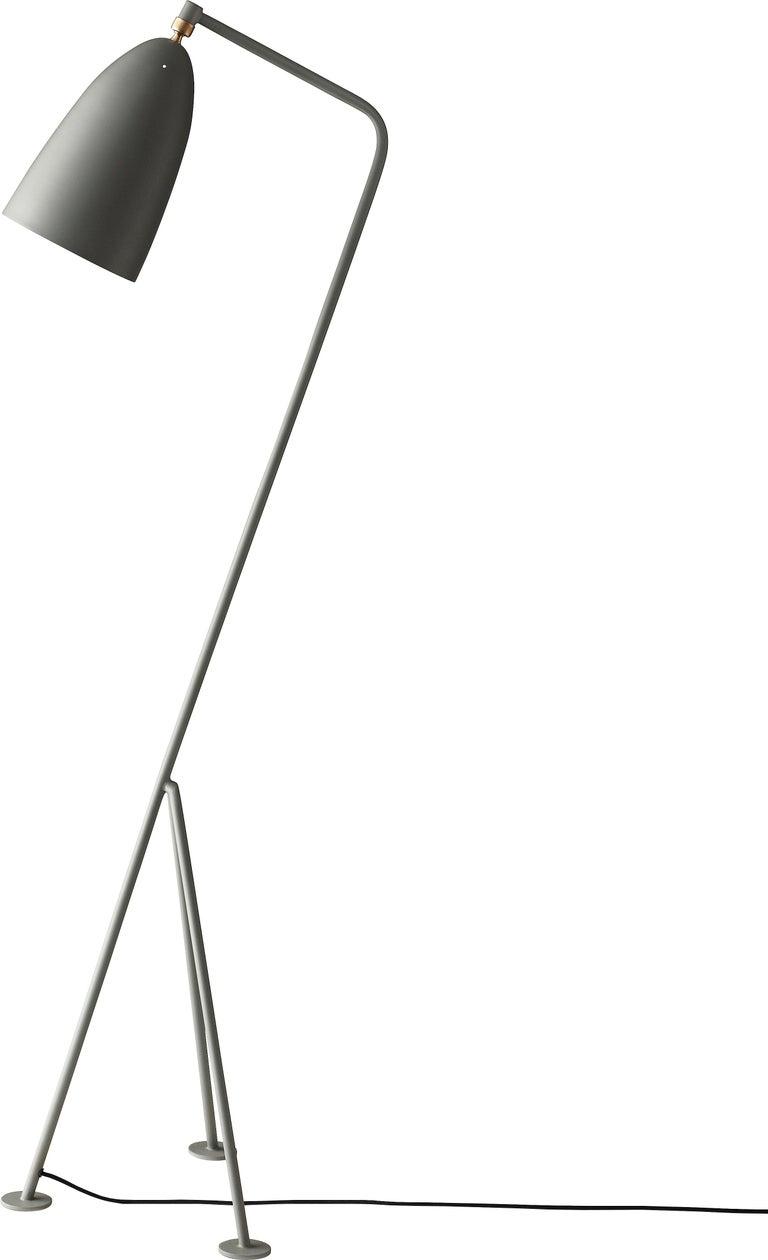 Powder-Coated Greta Magnusson Grossman 'Grasshopper' Floor Lamp in Oyster White For Sale