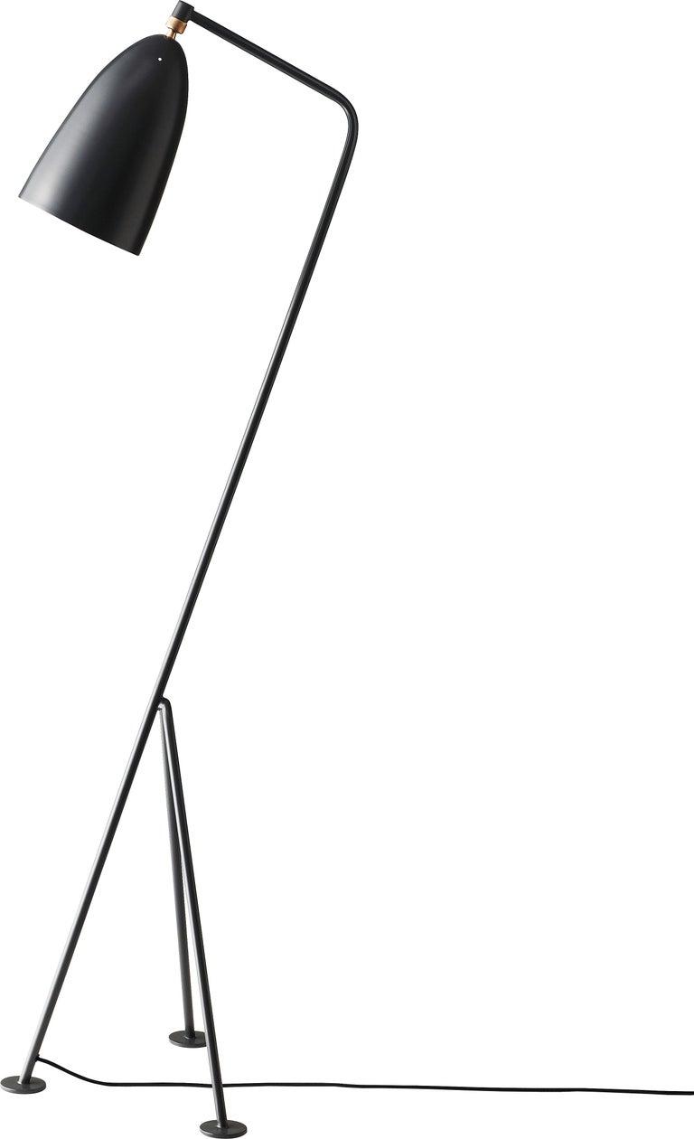Danish Greta Magnusson Grossman 'Grasshopper' Floor Lamp in Warm Gray For Sale